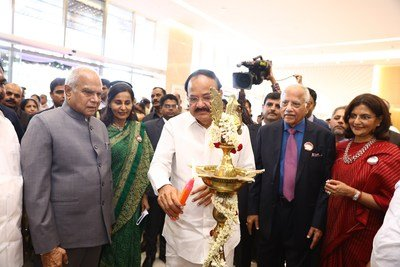 The Apollo Proton Cancer Centre inaugurated in Chennai, Tamil Nadu, India by the Hon'ble Vice President of India, Shri. Venkaiah Naidu, along with Dr. Prathap C Reddy, Chairman, Apollo Hospitals Group, Dr. Preetha Reddy, Vice Chairperson, Apollo Hospital Enterprise Limited & Ms. Suneeta Reddy, Managing Director, Apollo Hospitals Enterprise Limited.