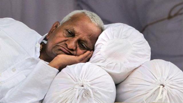 Anna Hazare's fast enters 2nd day; locals in his village observe bandh