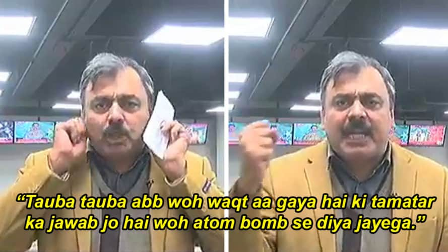 Atom Bombs For Tomatoes In Tomato Tamasha In Pakistan: Pakistani Journalist Qaiser Khokhar's TAUBA- TAUBA video goes viral 😁 😂 🤣 😅 😆😬