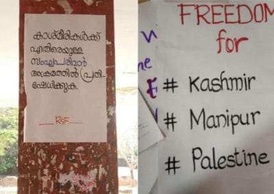 No Indian Allowed To Be Against India: Kerala college students booked for sedition for putting up posters on Kashmir issue