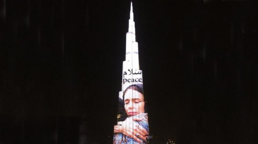 Burj Khalifa Lit Up In Honour Of New Zealand PM Jacinda Ardern