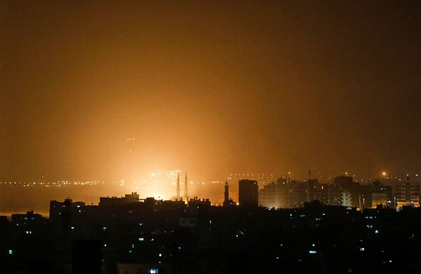 Israel Strikes Gaza After Rockets Fired On Tel Aviv