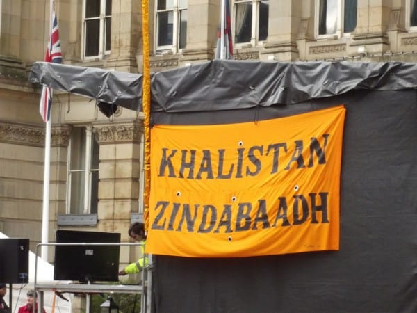 Pakistan-backed Khalistanis attack British Indians gathered outside Indian High Commission