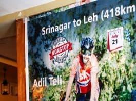 Adil Teli - First Kashmiri to cycle 418 km high-altitude distance non-stop from Srinagar to Leh - Digpu