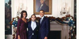 Gurbaksh Chahal With Barack Obama and Michelle Obama - Digpu