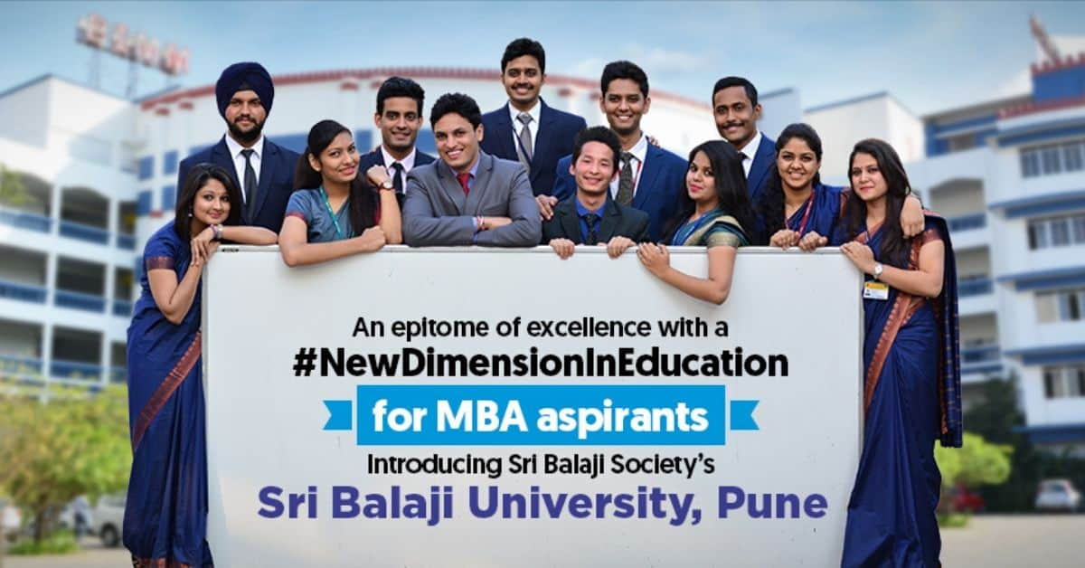 SRI BALAJI SOCIETY PROUDLY ANNOUNCES SRI BALAJI UNIVERSITY PUNE (SBUP)