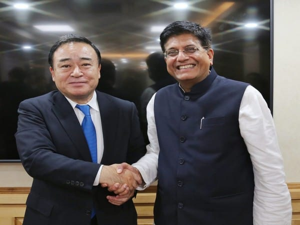 Goyal meets Japanese Minister of Economy Kajiyama