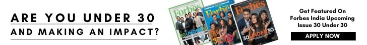 Get Featured on Forbes India 30 Under 30
