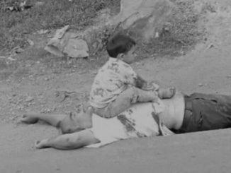Heart wrenching scenes witnessed as kid wails over slain civilian's body in Sopore